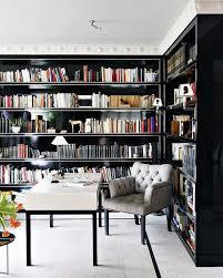 office bookshelf design. study with black built in bookshelves home office decor and interior decorating ideas bookshelf design