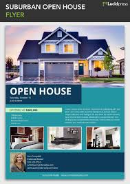 Home Flyers Template Suburban Open House Flyer Template Open House Real Estate