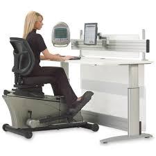 high office desk. Elliptical Machine Office Desk \u2013 Hammacher Schlemmer High