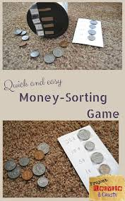 learn coin values with a simple game using a recycled container preschoolers