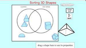 Venn Diagram Of Geometric Shapes Sorting 3d Shapes On A Venn Diagram Shapes Math 2 3d Shapes
