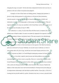 Nursing Admission Essay Examples The Role Of Nursing In Patience Care Admission Application Essay