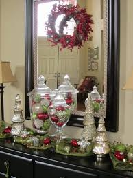 Apothecary Jars Christmas Decorations Captivating Entry Table Christmas Decorations for Black Console 47