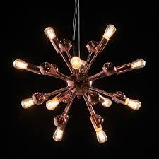 large retro copper sputnik ceiling chandelier hanging pendant light in home furniture diy lighting ceiling lights chandeliers