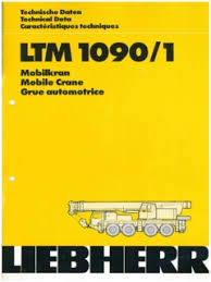 Liebherr Ltm 1090 1 Specifications Cranemarket