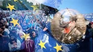 Image result for تظاهرات و اعتصاب مردم فرانسه، انگلیس و یونان در اعتراض به بحران اقتصادی