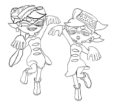 Printable Splatoon Coloring Pages