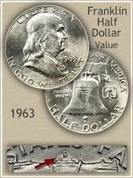1959 Franklin Half Dollar Value Chart 1963 Franklin Half Dollar Value Discover Their Worth