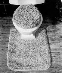 mid century retro toilet set toilet seat cover rug
