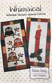 RCQ578, Ribbon Candy Quilt Co., Whimsical, 14 x 28 Seasonal ... & RCQ578, Ribbon Candy Quilt Co., Whimsical, 14 x 28 Seasonal Skinnies Pattern Adamdwight.com