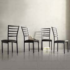 140 for set of 4 tribecca home darcy ii espresso contoured metal dining chairs set