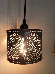 pendant lamp metal lighting farmhouseboho lightingfern in punched tin lighting fixtures image 11 of 15