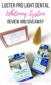Luster Pro Light Coupon Luster Pro Light Dental Whitening System Review Giveaway