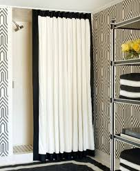 Black And White Curtains View In Gallery Throughout Design Ideas