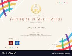 Certificate Of Participation Templates Certificate Of Participation Template