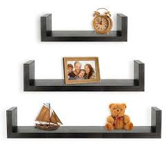 Best Place To Buy Floating Shelves Amazon Greenco Set Of 100 Floating U Shelves Espresso Finish 35