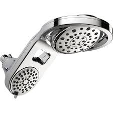 Shower Head With Lights Lowes Lowes Delta Hydrorain Chrome 5 Spray Rain Shower Head 74