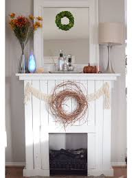 easy faux fireplace with pallet wood perfect for the holidays nonishouse