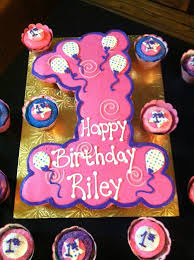 First Birthday Girl Cupcake Cake Cupcake Cakes Clipart Library