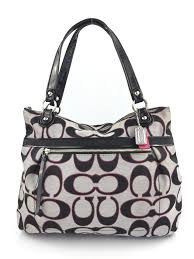 Coach Poppy Large Metallic Tote in Grey ...