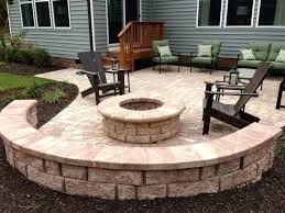 outdoor stone fire pit. Fire Pit Wall Outdoor Stone Seating Patio Ideas S