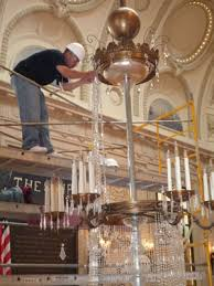 chandelier cleaning process