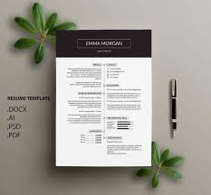 Contemporary Ndesign Resume Templates Modern 002 Examples