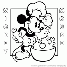 Small Picture Cooking Mickey Coloring Page My Coloring Page Lineart Coloring