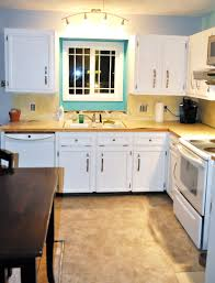 White Kitchen Countertop White Cabinets Wood Countertop