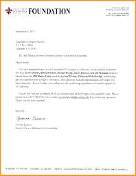 thank you letter format for scholarship bursary motivational application sle
