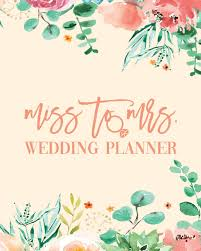 Miss To Mrs Wedding Planner Peach Mint Floral Budget