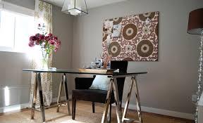 chrome office desk. gray u0026 purple office design with gorgeous walls paint color polished chrome glass top sawhorse desk black velvet chair pink grape suzani fabric
