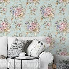 Incluído neste pacote são sete padrões sem costura e dois papéis de parede incríveis com o mesmo grande esquema de cores outonal. Papel De Parede Flores Azul Turquesa Modelo Exclusivo Bem Colar