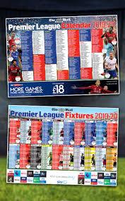 Premier League Wall Chart Mymail Premier League Wallchart