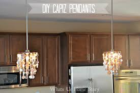 the easiest way to make a capiz chandelier
