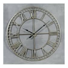silver wall clock skeleton uk large round clocks