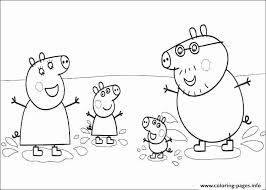 Peppa Pig Coloring Pages Pdf Printable Free Colouring Kids Color To