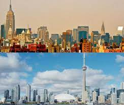 if you leave new york for toronto you