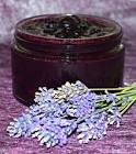 blueberry sauce with fresh lavender