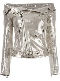 faith connexion offshoulders glittery biker jacket 710 gold women clothing faith connexion sweater uk