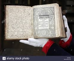 a leather bound book of old scriptures is presented at the franckeschen stiftungen franke foundations in halle germany 26 october 2012