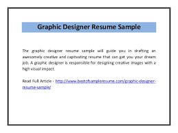 Graphic Design Resume Samples Pdf Costumepartyrun