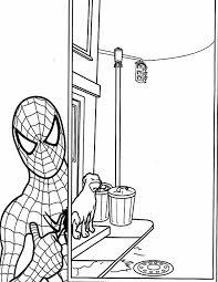 Kleurennu Spiderman In De Stad Kleurplaten