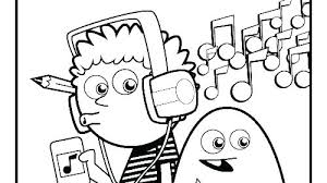 Coloring Pages Music Sheets Notes Page Musical Instrument Worksheets C