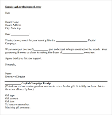 Sample Fundraiser Receipt Template 9 Free Documents In