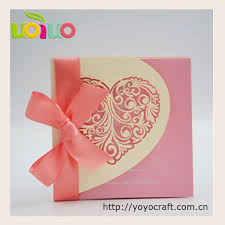 Us 29 5 Nice Light Gold Heart Wedding Invitation Card Various Color Customize Emboss Letters Handmade Wedding Invitation Design In Cards