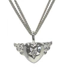 sweet diamonds winged heart pendant