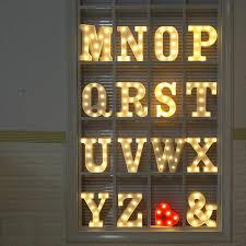 letter lighting. Alphabet Letter Lights LED Light Up White Plastic Letters Standing Hanging N-Z 2XAA Batteries Warm Lighting E