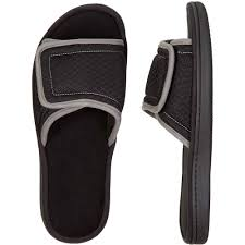 Dearfoam Size Chart Dearfoams Df By Dearfoams Mens Slide Slipper Walmart Com