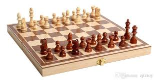Classic Wooden Board Games Classic Wooden International Chess Set Board Game Foldable 42